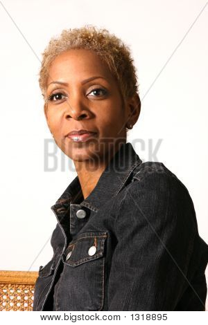 Woman Wearing Jean Jacket
