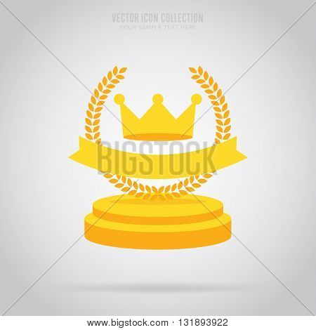 Trophy cup vector icon. Award icon. Trophy cup isolated. Winner symbol. Trophy cup flat. Winner element. Award trophy cup with star. Prize sign. Winner sign. Sign of victory. Trophy cup logo. Award. Trophy cup simple illustration.