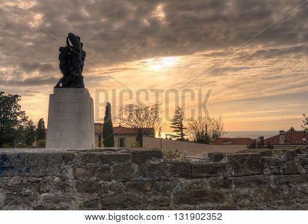 War memorial in St. Giusto hill Trieste - Italy