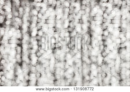 Densely White Bokeh Light Sparkle Shining On Platinum Background, White Glow And Bright Light Bokeh