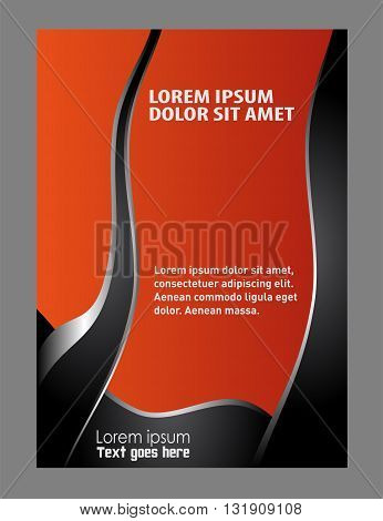Background flyer. Vector Flyer Poster Template background