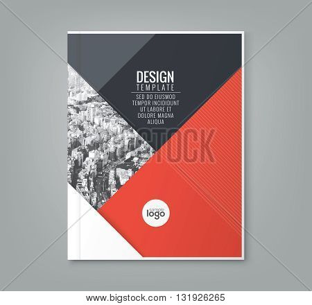 minimal simple red color design template background for business annual report book cover brochure flyer poster