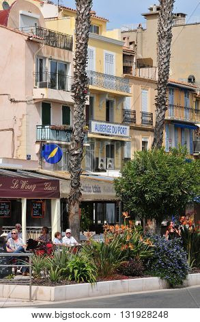 Bandol France - april 20 2016 : the picturesque city in spring