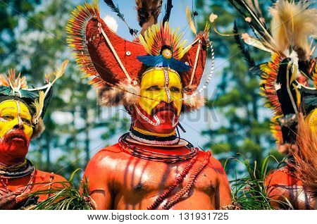 Performer In Papua New Guinea