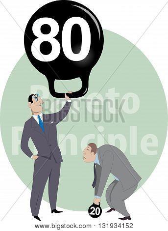 Job performance and Pareto principle, EPS8 vector illustration