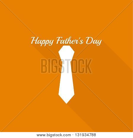 Abstract background with men ties. Happy Father Day. Icon men tie. Cravat. Elegant tie. Father day. Flat design with long shadow. Greetings happy father day. Vector