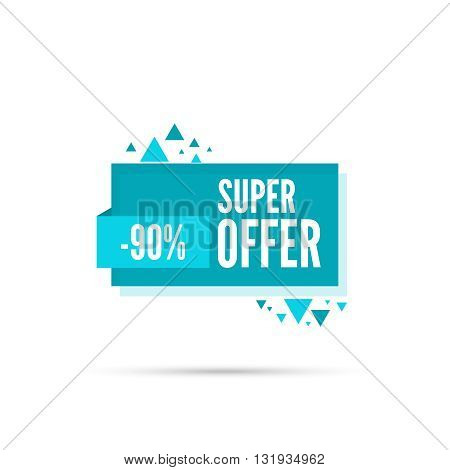 Sale background. Sale tag. Sale banner. Sale vector. Vector tag. special offer, discount and percentages, price. discount tag. 90 percentage. Super offer