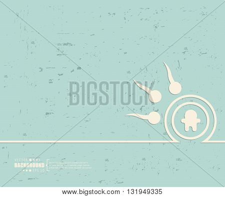 Creative vector spermatozoons. Art illustration template background. For presentation, layout, brochure, logo, page, print, banner, poster, cover, booklet, business infographic, wallpaper, sign, flyer