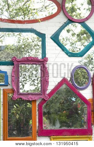 Mirrors With Colored Frames