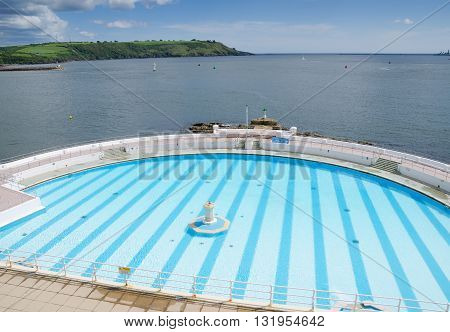 PLYMOUTH,ENGLAND. 22nd May 2016. Tinside Lido is about to re-open after its winter refurbishment.