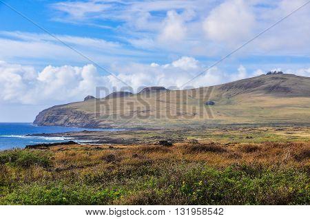 Coastal Landsape, Easter Island, Chile