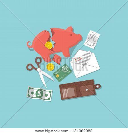 Concept Financial Crisis