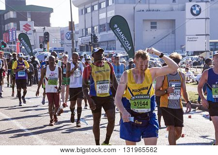 Spectators And Runners At Comrades Marathon In Durban 22