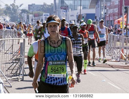 Spectators And Runners At Comrades Marathon In Durban 18