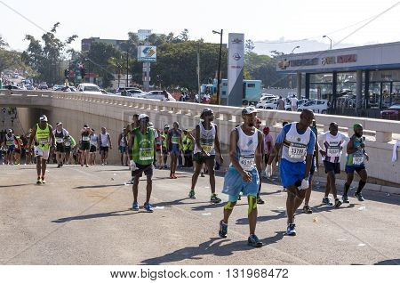 Spectators And Runners At Comrades Marathon In Durban 10