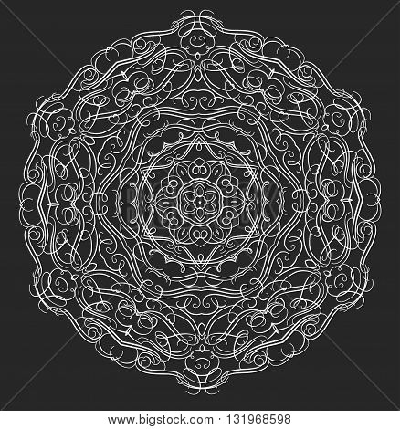 Mandala or snowflake for design, birthday mandala and other holiday mandala or snowflake, kaleidoscope mandala,  medallion mandala, yoga, india