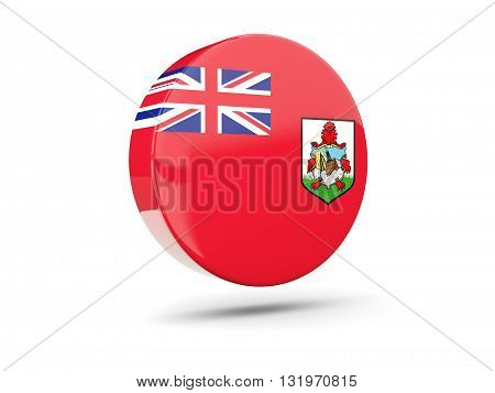 Round Icon With Flag Of Bermuda