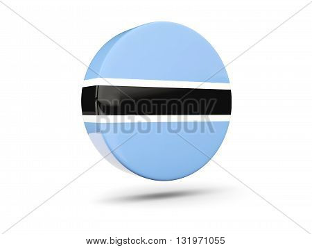 Round Icon With Flag Of Botswana