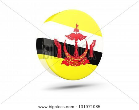 Round Icon With Flag Of Brunei