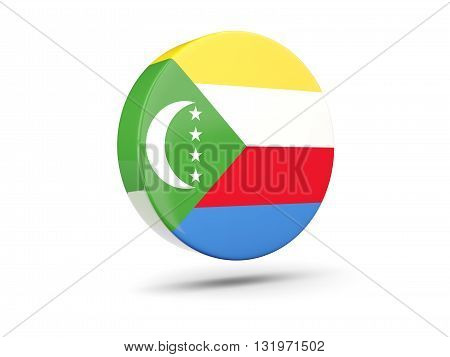 Round Icon With Flag Of Comoros