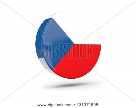 Round Icon With Flag Of Czech Republic
