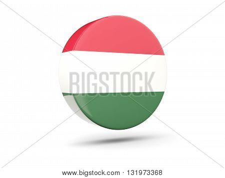 Round Icon With Flag Of Hungary
