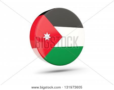 Round Icon With Flag Of Jordan