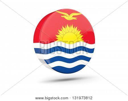 Round Icon With Flag Of Kiribati