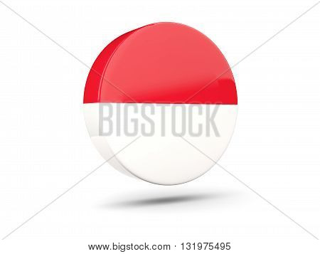 Round Icon With Flag Of Monaco