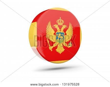 Round Icon With Flag Of Montenegro