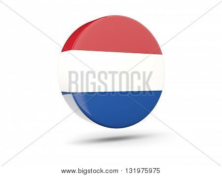 Round Icon With Flag Of Netherlands