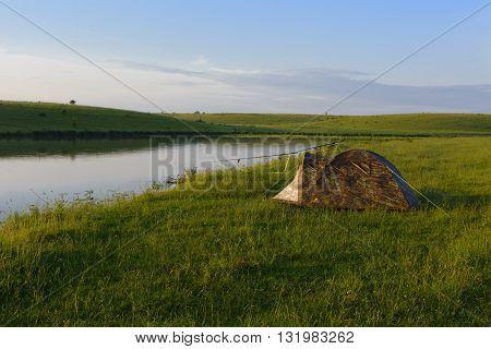 Fishing on beautiful private lake in Ukraine