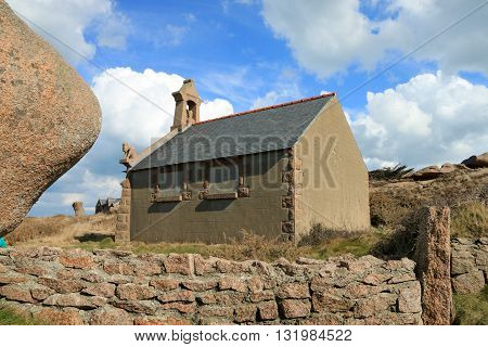 The  house on the path of the customs officers, PERROS GUIREC  Brittany, France