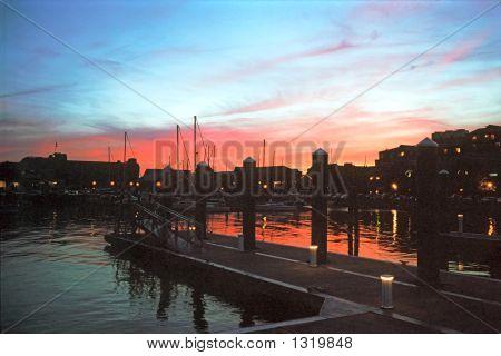 Sunset At Newport Wharf, Ri