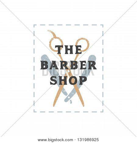 Color Barber Shop Sign Template.