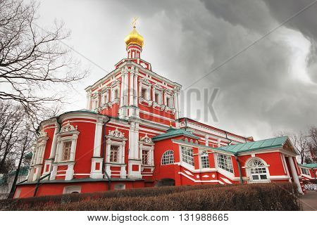 One of the churches in Novodevichy convent in Moscow