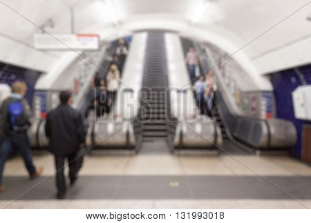 Abstract blurry background : Metro London .