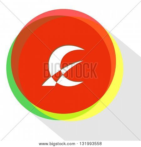 monetary sign. Internet template. Vector icon.