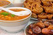 Moroccan food,ramadan kareem, soup, orient food, hospitality poster