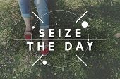 Slow Life Seize Day Balance Concept poster