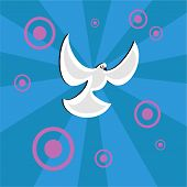 dove of peace design from my retro background series poster