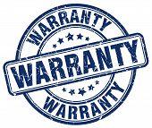 warranty blue grunge round vintage rubber stamp.warranty stamp.warranty round stamp.warranty grunge stamp.warranty.warranty vintage stamp. poster