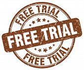 free trial brown grunge round vintage rubber stamp.free trial stamp.free trial round stamp.free trial grunge stamp.free trial.free trial vintage stamp. poster