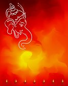 Ganesha The Lord Of Wisdom Vector Art poster