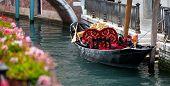 Traditional symbol of Venice - pleasure gondola poster