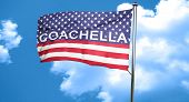 coachella, 3D rendering, city flag with stars and stripes poster