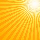 really hot summer sun - illustration for your backgrounds poster