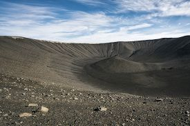 Hverfjall Crater At Lake Myvatn, North Iceland