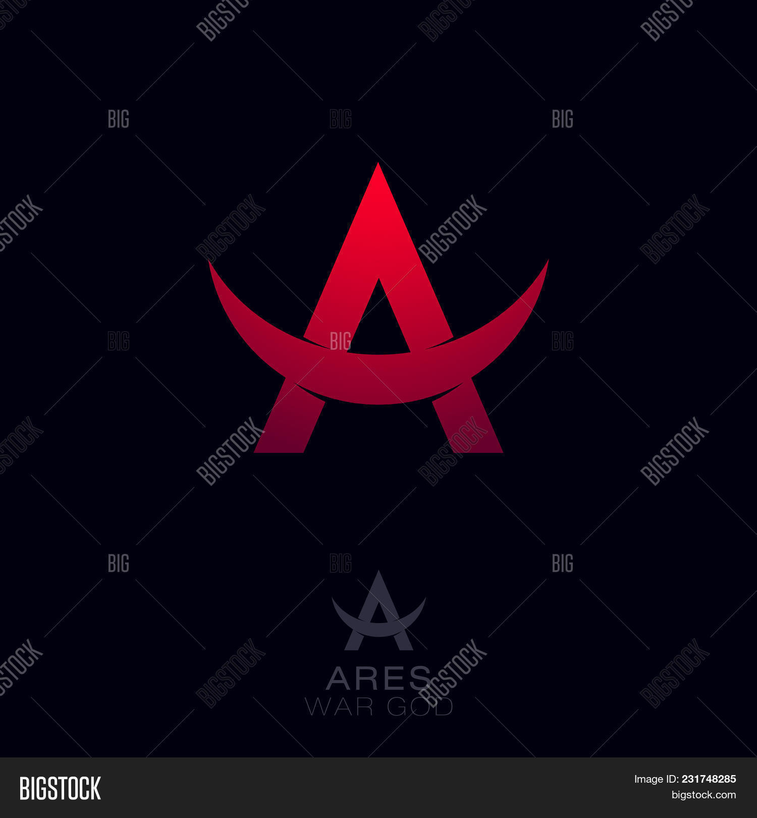 Ares Logo Greek War Vector Photo Free Trial Bigstock