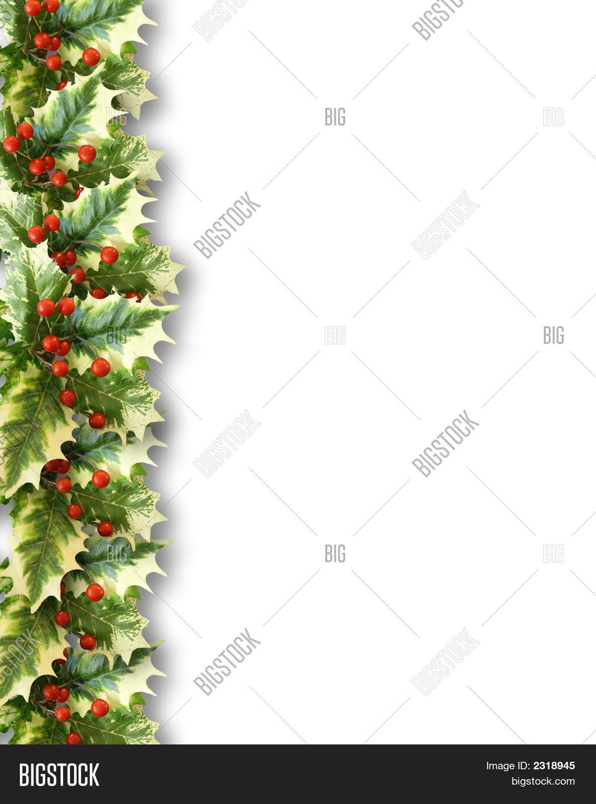 christmas holly border image photo free trial bigstock